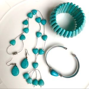 Jewelry - ⭐️ HOST PICK! New: Assorted 4pc Turquoise Jewelry